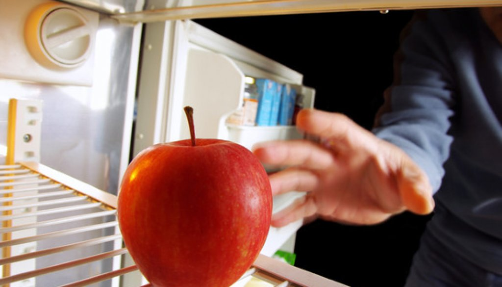 Apple on Fridge